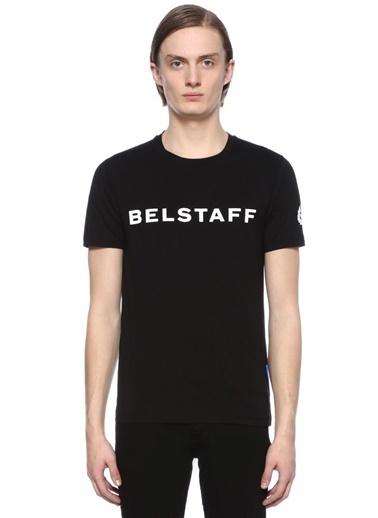 Baskılı Bisiklet Yaka Tişört-Belstaff